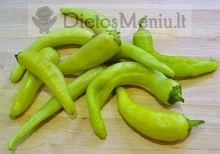 Aitrioji paprika (čili), žalia, konservuota