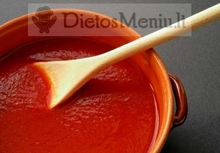 Pomidorų tyrė, be druskos