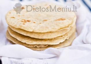 Meksikietiškos tortilijos lakštas