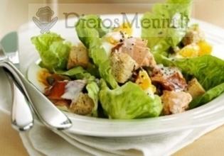 """Klasikinės """"Cezario"""" salotos"""
