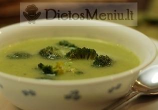 Brokolių ir bulvių sriuba