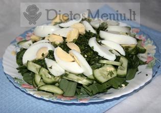 Rūgštynių salotos su kiaušiniais