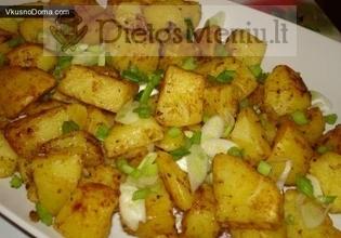 Traškus bulvių apkepas