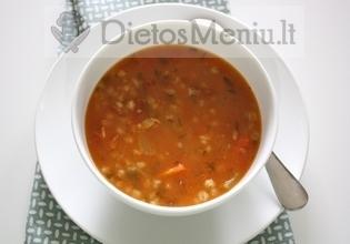 Perlinių kruopų sriuba su daržovėmis