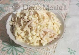 Kiaušinių ir obuolių salotos