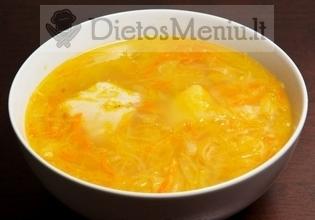 Raugintų kopūstų sriuba su bulvėmis
