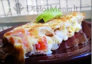 Omletas su sūriu ir pomidorais
