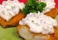 Baltos žuvies kepsneliai su padažu